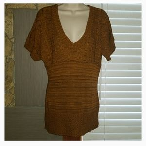 Charlotte Russe, rust and brown blouse size large